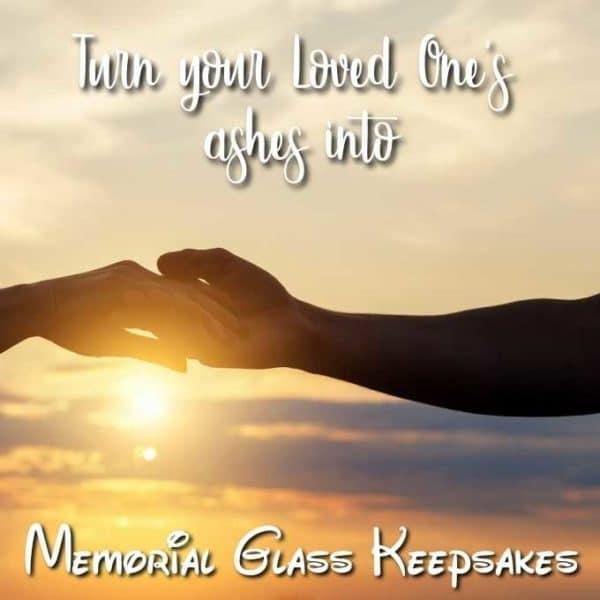 Loved ones glass keepsake