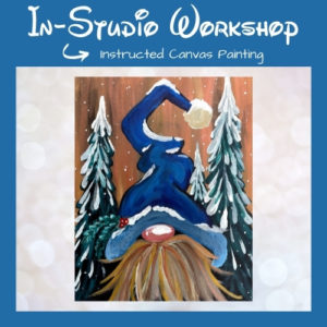 Gnome for the Holidays Step by Step Canvas Painting Workshop
