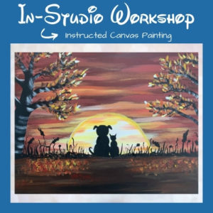 """Step by Step Canvas Painting Workshop """"Fall Furiends"""""""