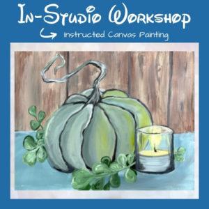 "Step by Step Canvas Painting Workshop ""Farmhouse Pumpkin"""