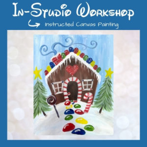 Gingerbread Dreams Step by Step Canvas Painting Lesson