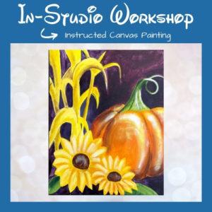 "Step by Step Canvas Painting Workshop ""Harvest Pumpkin"""