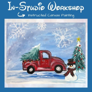 Home for Christmas Step by Step Canvas Painting Lesson