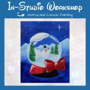 Let it Snowglobe Instructed Canvas Painting Lesson