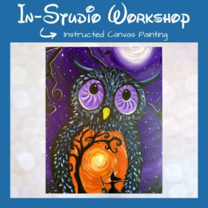 """Step by Step Canvas Painting Workshop """"Wicked Owl"""""""