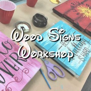 Wood sign Workshop