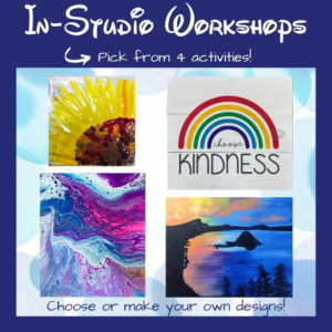 Choose from 4 workshop activities at the Portland Studio