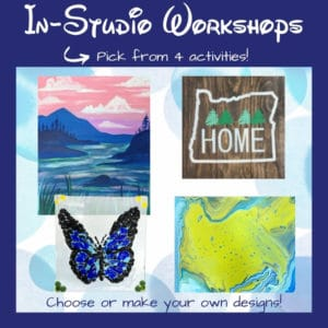 Choose from 4 different in-studio workshops at the Portland studio.
