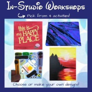 Choose from 4 different in-studio DIY workshops at the Portland Studio